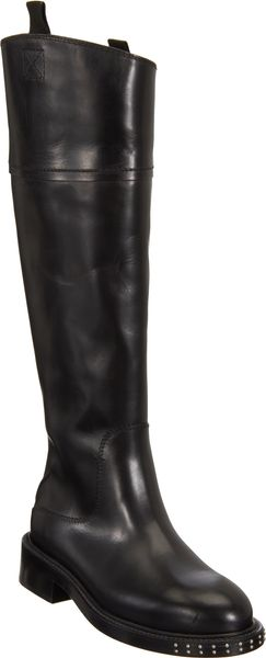 Costume National Lappedseam Riding Boot - Lyst