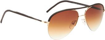 Cutler & Gross Leather Aviator - Lyst