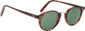 Cutler & Gross Round Frame Metal Bridge Sunglasses - Lyst