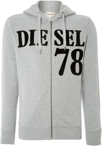 Diesel 78 Zip Up Hoody - Lyst