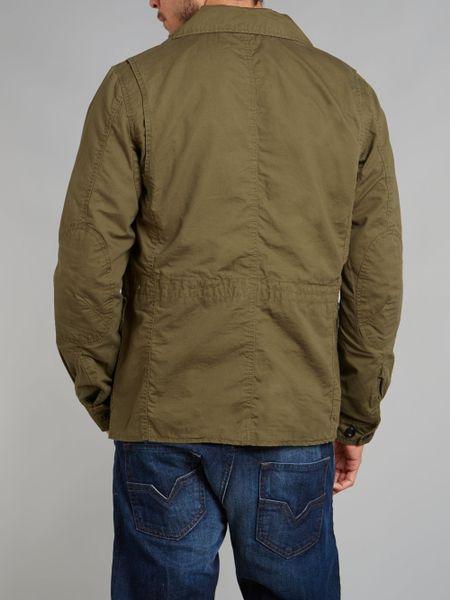 Diesel Four Pocket Field Jacket In Khaki For Men Lyst