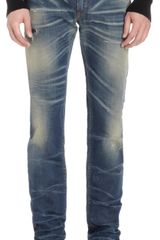 Dolce & Gabbana Distressed and Faded Skinny Jeans - Lyst