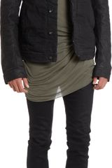 DRKSHDW by Rick Owens Denim and Leather Jacket - Lyst