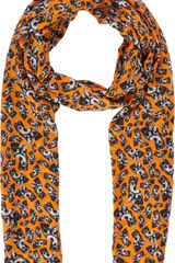 E. Tautz Allover Dog Print Scarf - Lyst