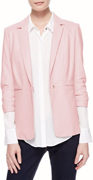 Elizabeth And James James Relaxed Leather Blazer - Lyst
