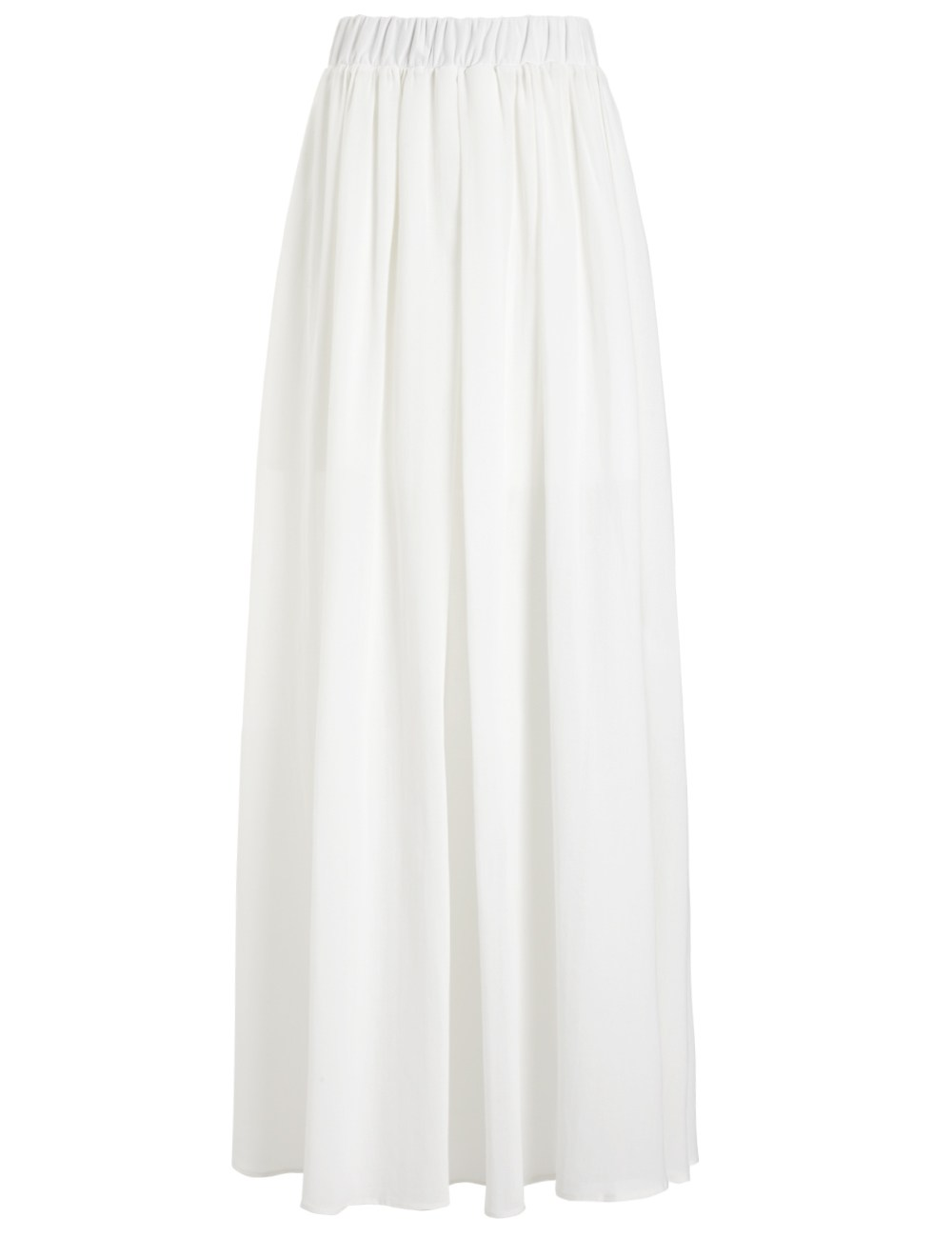 etienne deroeux white node maxi skirt in white lyst