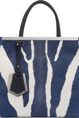 Fendi Calf Hair Small 2jours Tote - Lyst