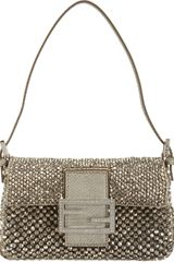 Fendi Beaded Mini Baguette Bag - Lyst