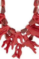 Fenton Crimson Coral Bib Necklace - Lyst