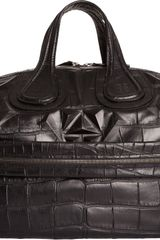 Givenchy Crocstamped Studs Nightingale Satchel - Lyst
