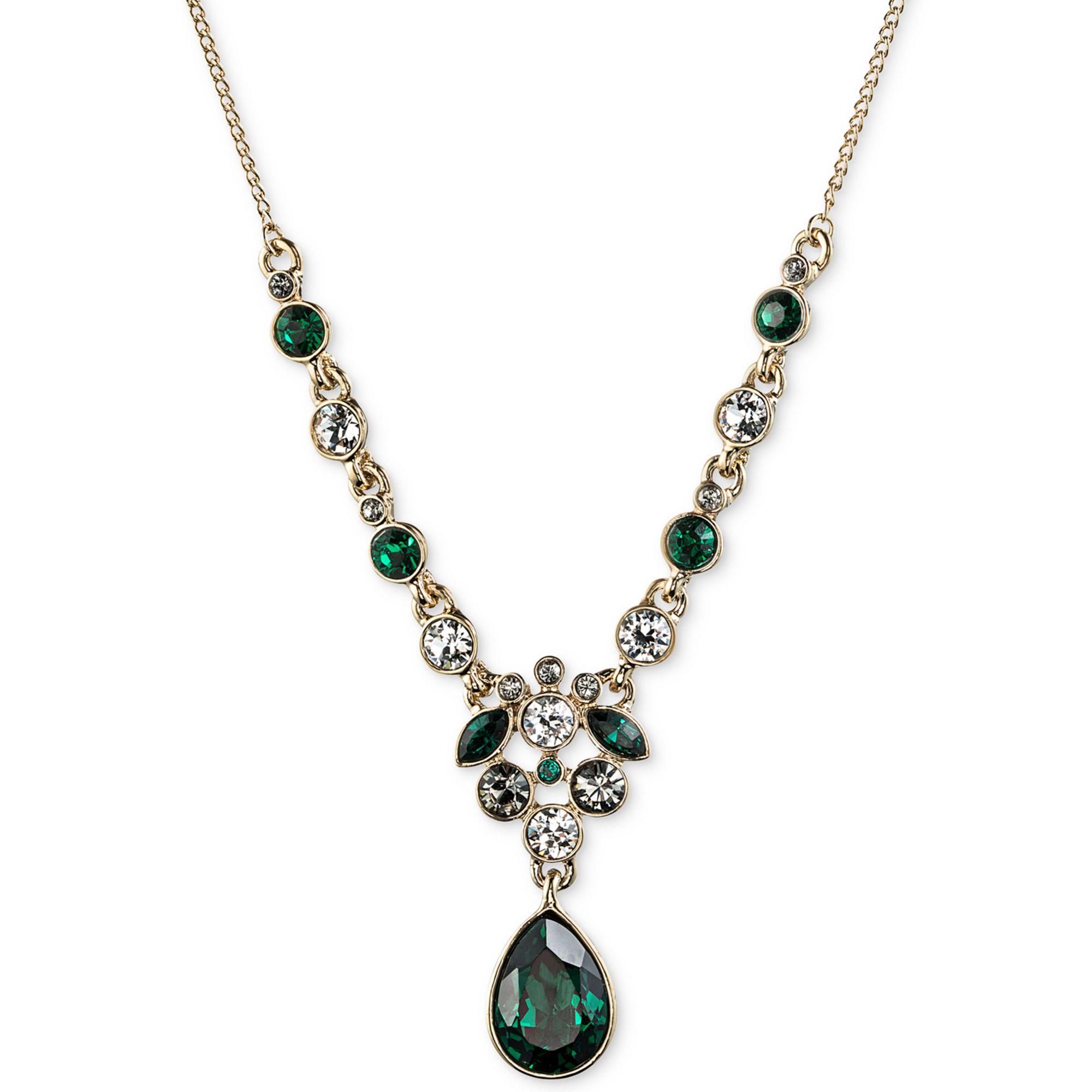 givenchy hematitetone emeraldcolored and swarovski