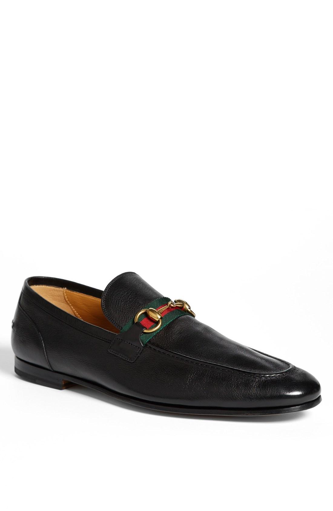 Gucci 'Elanor' Bit Loafer in Black for Men | Lyst