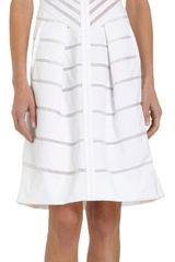 J. Mendel Poplin and Organza Sleeveless Dress - Lyst