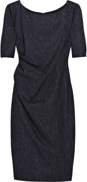 Lela Rose Speckled Wool Blend Dress - Lyst