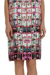 Mary Katrantzou Rose Trellis Print Shift - Lyst