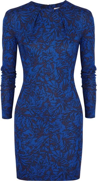 Matthew Williamson Printed Stretch Jersey Mini Dress - Lyst