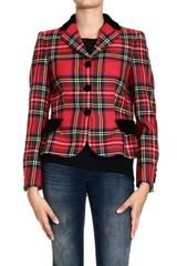 Moschino  Three Buttons Tartan Jackets - Lyst