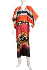 Natori Mayon Gathered Charmeuse Caftan - Lyst