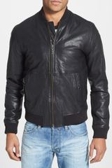 Nudie Jeans Cedric Leather Bomber Jacket - Lyst