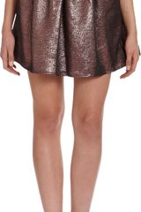 Opening Ceremony Gathered Lurex Hope Skirt - Lyst