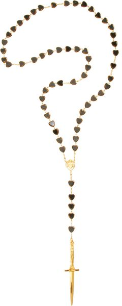 Pamela Love Gold Cross Dagger Rosary - Lyst