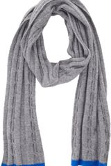 Paul Smith Cable Knit Scarf - Lyst
