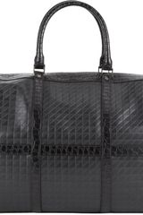 Proenza Schouler Crocodiletrim Stamped Leather Duffel Bag - Lyst