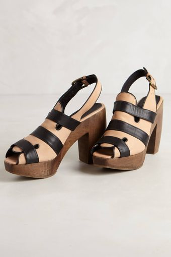 Rachel Comey Striped Slingback Clogs - Lyst