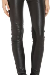 Rag & Bone Leather Reverse Jodphur Pants - Lyst