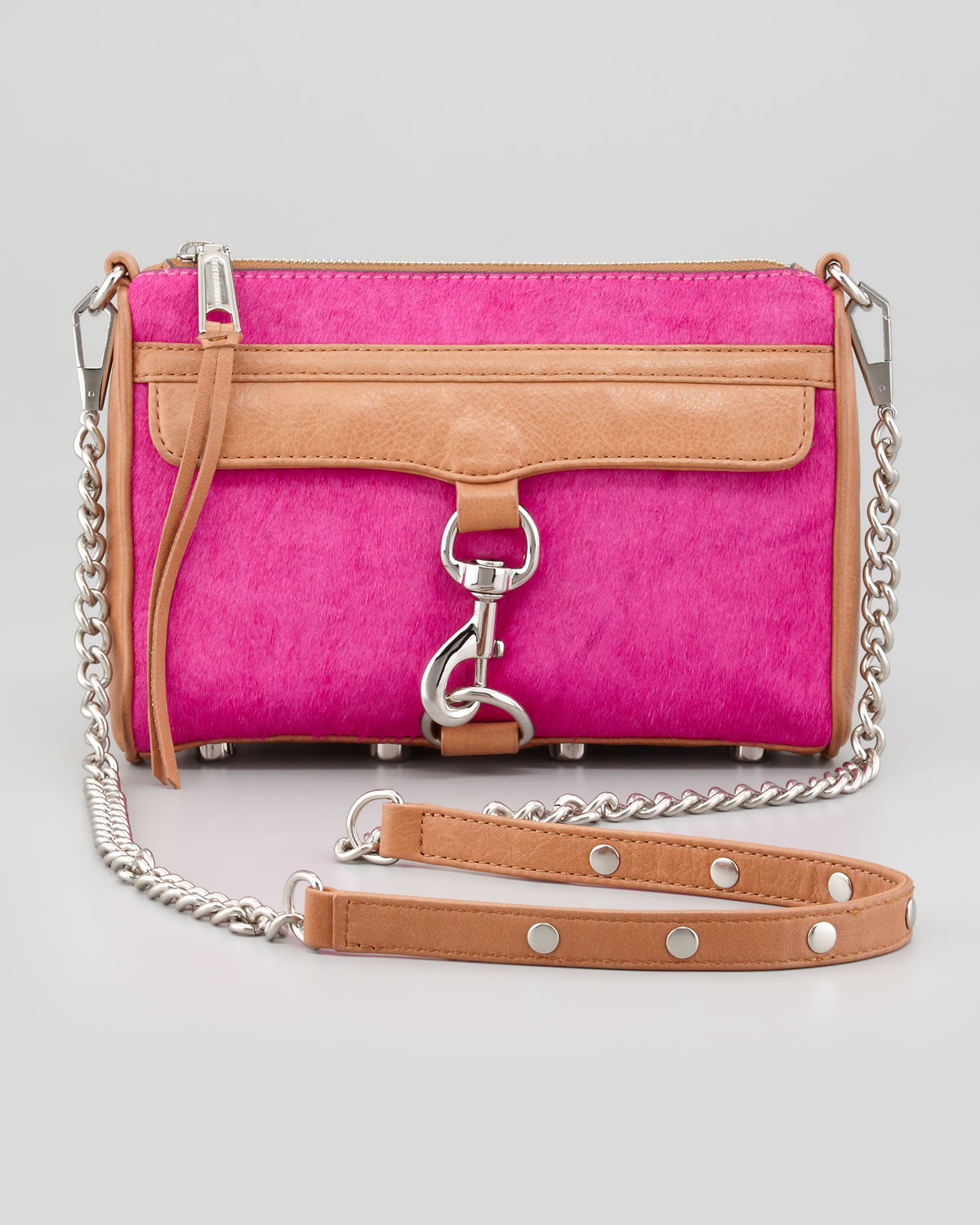 """Shop Women's Rebecca Minkoff Pink Silver size OS Crossbody Bags at a discounted price at Poshmark. Description: Rebecca Minkoff Large MAC Crossbody Bag in the color """"Blush"""" Pink. Genuine leather with silver toned hardware. Comes with original dustbag and extra leather tassels. Brand new condition, took tags off and never used."""