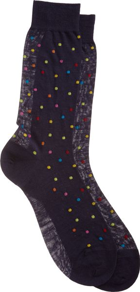 Richard James Polka Dot Midcalf Socks - Lyst