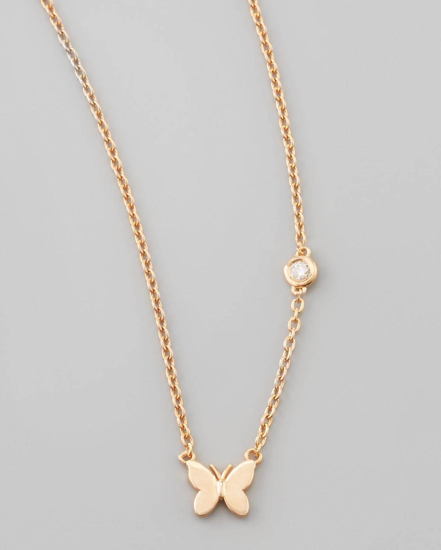 by sydney evan butterfly bezel pendant