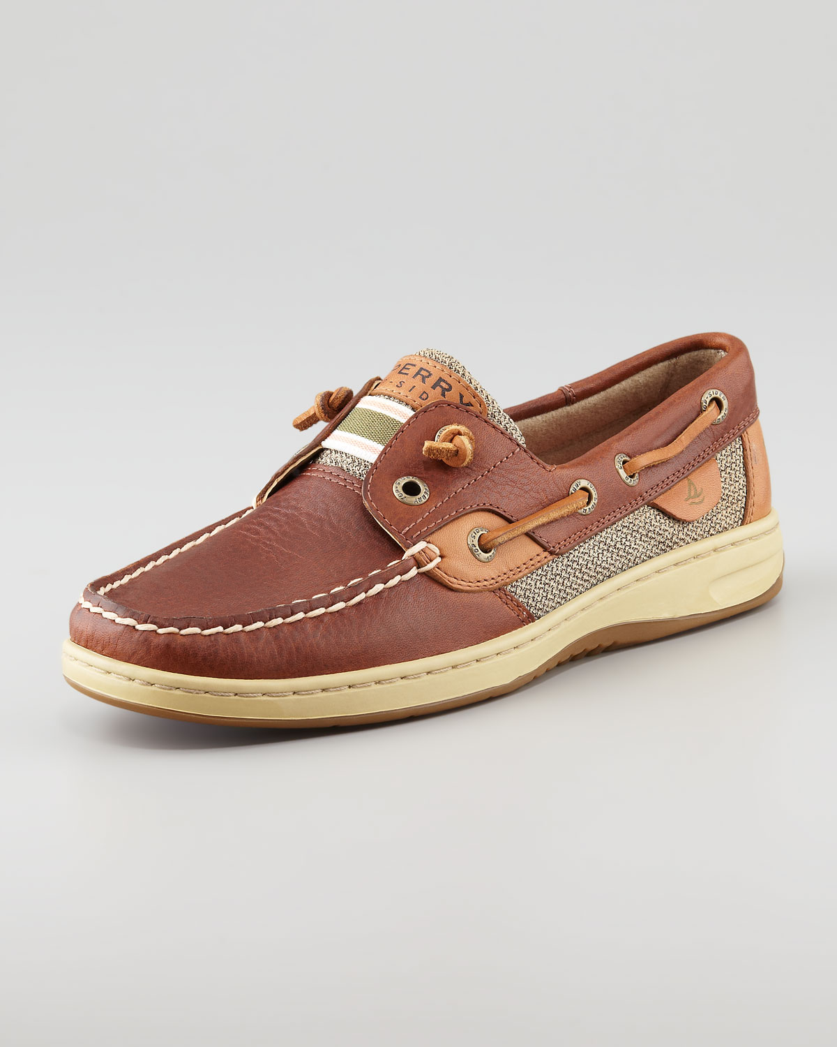 Sperry Top-sider Bluefish Tiefree Boat Shoe Tan in Brown ...