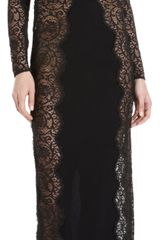 Stella McCartney Long Sleeve Lace Sheath Gown - Lyst