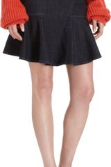 Stella McCartney Peplum Hem Skirt - Lyst
