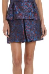 Timo Weiland Peplum Hem Abstract Jacquard Sleeveless Top - Lyst