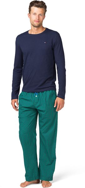 Tommy Hilfiger Camelio Pyjama In Green For Men Peacoat