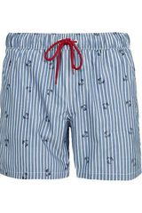 Topman Stripe Motif Swimming Shorts - Lyst