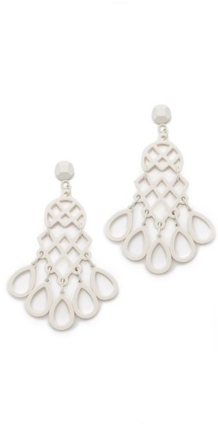 Tory Burch Lace Chandelier Earrings - Lyst