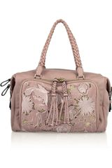 Valentino Embroidered Laceeffect Leather Bag - Lyst