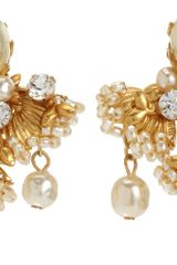 Vintage Pearl Triple Drop Earrings - Lyst