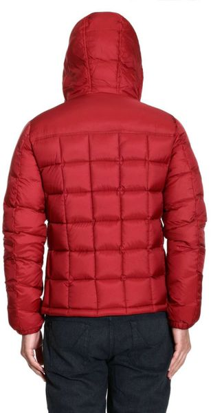 Woolrich Down Jacket Powderhorn Medium Jacket With Hood In