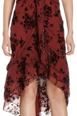 Zac Posen Capsleeve Cocktail Dress in Dévoré Velvet Chiffon - Lyst