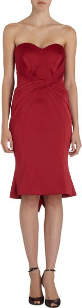 Zac Posen Sweetheart Neck Strapless Dress - Lyst