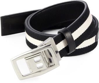 Bally Reversible Leathertocanvas Belt - Lyst