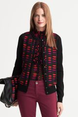 Banana Republic Lwren Scott Collection Lip Print Cardigan Black - Lyst