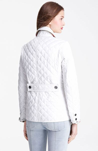 Burberry Brit Copford Quilted Jacket In White Start Of