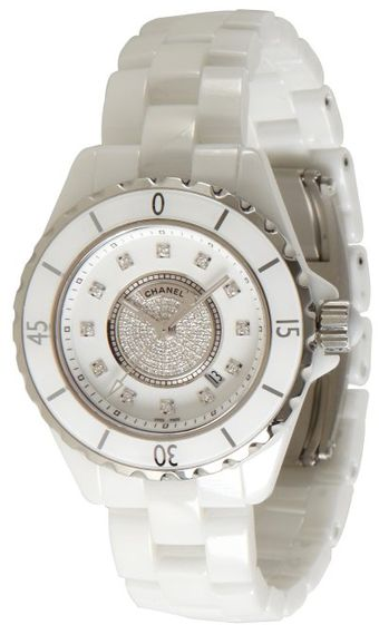 Chanel White Ceramic and Diamond J12 Gemset Watch - Lyst