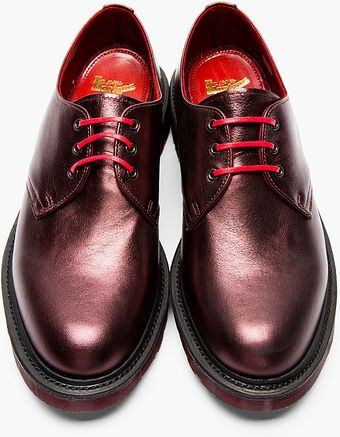 Dr. Martens Plum Metallic Leather 3_eye Derbys - Lyst