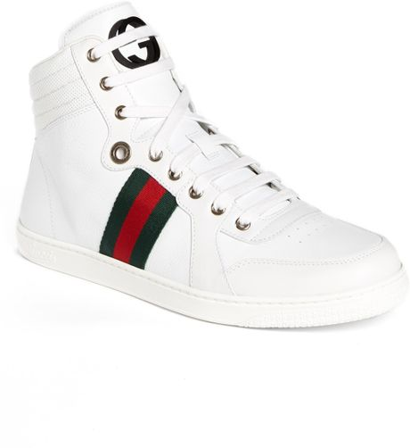 gucci coda high top sneaker in white for men lyst. Black Bedroom Furniture Sets. Home Design Ideas